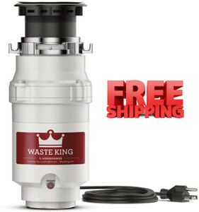 Waste King L 1001 Garbage Disposal with Power Cord 1 2 HP