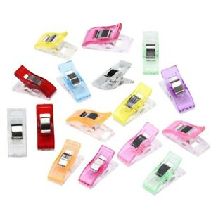 100Pcs Plastic Mini Clips Wonder Sewing Holder Craft Clamps Knitting Clothing $6.50