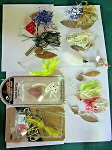 10 bass fishing lures spinners