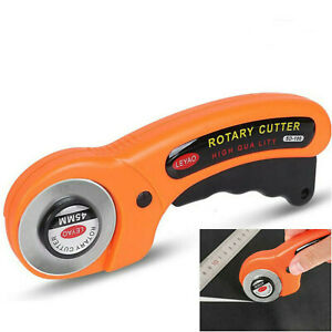 Rotary Cutter With 6 45mm Blade Sewing Quilters Fabric Leather Cutting Tool Set $14.89
