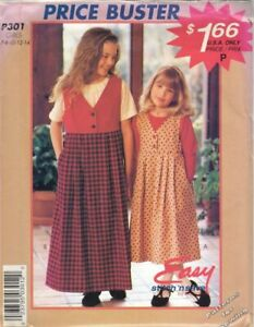 Pattern McCall#x27;s Easy Sewing Girls#x27; Jumper Blouse Sz 7 14 Vintage c1994 $4.50