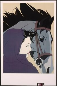Patrick Nagel MONTANA Rare Lithograph Out of Print Woman amp; Horse New Art $37.99