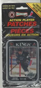 1993 94 Wayne Gretzky Action Player Patch NHL Los Angeles Kings 3 x 4 in Pkg $9.95
