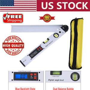 Blue Back light Digital Protractor Electronic Goniometer Protractor Measure USA $40.99