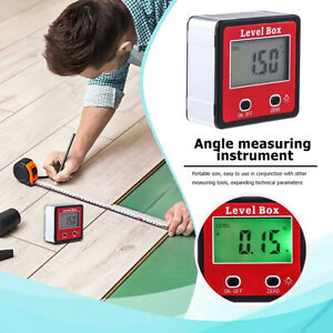 Cube Inclinometer Angle Gauge Meter Digital LCD Protractor Electronic Level Box $16.20