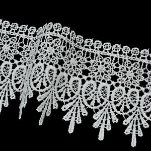 5 Yards Lace Trim Ribbon Embroidered Edge DIY Sewing Clothing Dress Decor Crafts C $6.59
