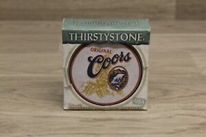 Set of 4 Thirstystone Natural Sandstone Coasters with Cork Backing Coors Beer SS