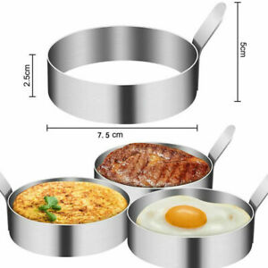 4 Pack Egg Rings Mold for Cooking Stainless Steel Round Egg Cooker Ring Nonstick