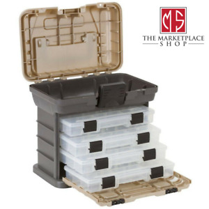 Small Parts Organizer 37 Compartment Fishing Tackle Box Lures Storage Bait Case