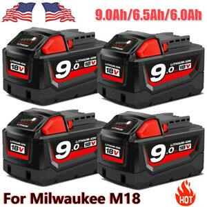 For Milwaukee M18 Lithium XC 9.0 6.5 6.0 Extended Capacity Battery 48 11 1860 US