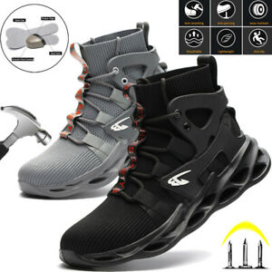 MENS WORK BOOTS STEEL TOE NON SLIP SAFETY SHOES SPORTS INDESTRUCTIBLE SNEAKERS