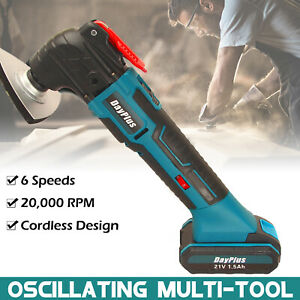 21V Multi Tool Electric Multi Oscillating Saw 1.5Ah Battery 22PCS Accessories