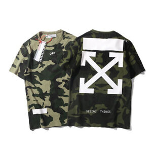 Off OW Arrow Green Camouflage T shirt