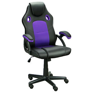 Leather Gaming Racing Chair Ergonomic Recliner Executive Office Computer Chair $52.99