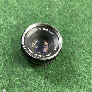 canon lens fd 50mm 1:1.8 Good Condition Fast Shipping