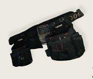 Husky Padded Tool Belt 3 Pouches Multiple Pockets and Mag O Grip Hammer Holder
