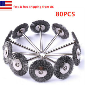 80X Stainless Steel Wire Brush Fit Drem Rotary Tool Die Grinder Removal Wheel $26.99