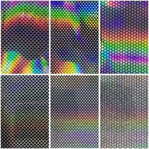 Holographic Lure Tape Sticker Reflective Sheet Tackle 12pcs High Quality