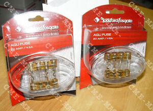 🚨AGU FUSE 20 Amp🔥GOLD Plated�TWO 4 Pack🧰FREE SHIP🚨ROCKFORD FOSGATE💣RP7560👓 $9.50