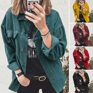 Womens Solid Color Overcoat Button up Lapel Collar Winter Warm Coat Outwear Tops $28.99