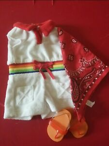 American Girl Ivy Lings Rainbow Romper Outfit RARE complete $145.00