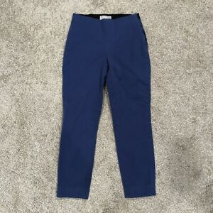 Everlane Women#x27;s Size 2 Blue The Side Zip Stretch Cotton Pant