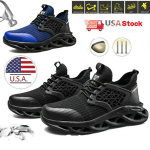 Mens Waterproof Indestructible Work Boots Sports Steel Toe Safety Shoes Sneakers