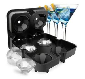 ICE Balls Maker Sphere Tray Mold Cube Whiskey Ball Silicone Water Frozen Diamond