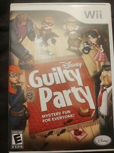 Disney Guilty Party Nintendo Wii 2010 Hard to Find Complete Package $25.00