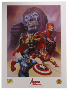 Avengers Lithograph painted by Alex Horley Marvel Kang Dynamic Forces 2001 $29.95