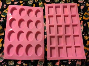 Silicone soap molds small oval rectangle soap making $12.00