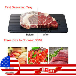 Aluminium Fast Defrosting Tray Meat Frozen Food Thawing Rapid Plate Non stick
