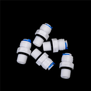 5X1 4 Push Fit Tube x1 4 Thread Male Quick Connect RO Water Reverse Osm Dicb C $1.55