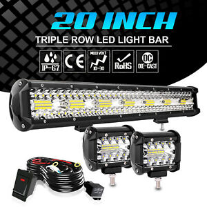 20quot; Inch Led Work Light Bar Combo Offroad TruckWiring For Jeep UTE 4WD ATV UTV $45.97
