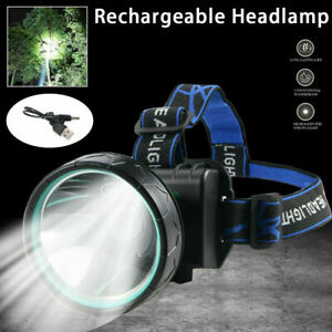 Super Bright LED Headlamp Rechargeable Headlight Torch 5000 Lumen for Hunting. $13.84