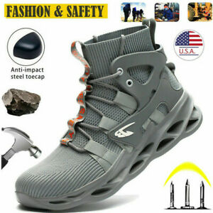 Mens Work Boots Steel Toe Cap Safety Shoes Indestructible Hiking shoes