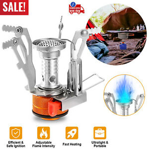 Portable Ultralight Camping Stoves Backpacking Hiking Stoves w Piezo Ignition
