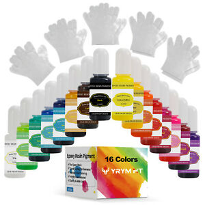 16 Colors Epoxy Resin Pigment Liquid Dye High Concentrated Resin Color Pigment $14.89
