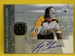 Gerry Cheevers Autograph Ultimate Jerseys 50 Patch 2006 Ultimate Collection $46.00
