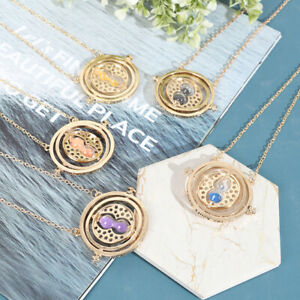 Harry Potter Necklace Time Turner Necklace 3D Hourglass Necklace Rotating S BU C $3.46