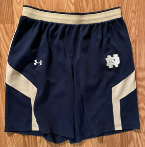 Notre Dame Football Team Issued Under Armour Shorts Large $49.99