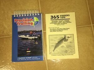 Two Fishing Books Precision Trolling 4th Edition amp; 365 Fishing Tips Reels Lures