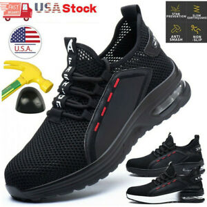 Men#x27;s Sneakers Indestructible Safety Work Shoes steel toe boots Breathable 8 13