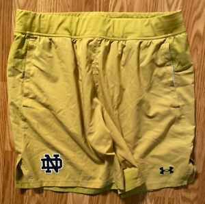 Notre Dame Football Team Issued Under Armour Shorts Large #37 $74.99