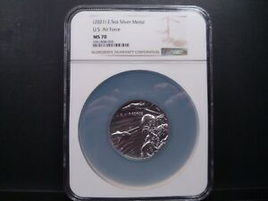2021 MS70 2.5oz Silver Medal U.S. Air Force NGC Certified Mint Perfect $349.99