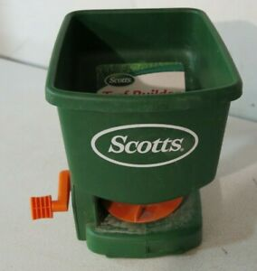 Scotts Easy Hand Held Broadcast Spreader #71030 Good Condition Free Shipping $26.90