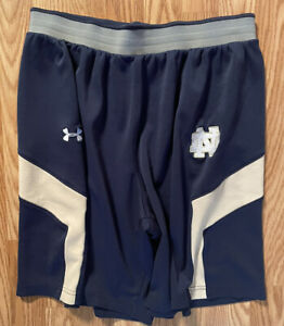 Notre Dame Football Team Issued Under Armour Shorts Large $39.99