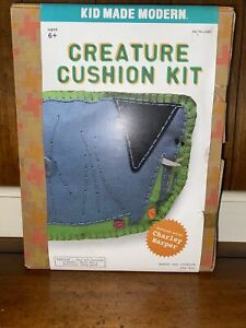Kid Made Modern Creature Cushion Kit Elephant Embroidery Craft Sewing Kids NEW $14.95