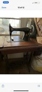 1937 singer sewing machine and table top desk $499.99