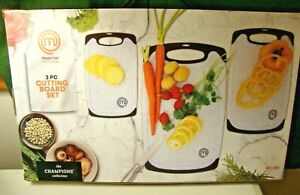 Master Chef Set of 3 Non Porous Plastic Cutting Boards New $13.00
